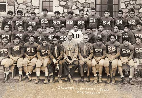 Stewart Indian School, Football Team