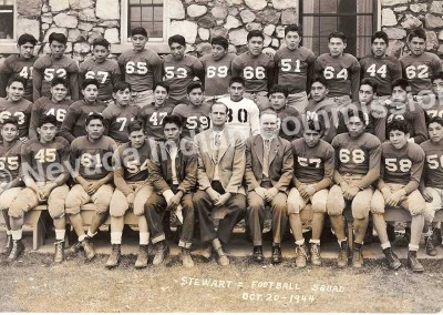 Stewart Indian School Football Team, 1944