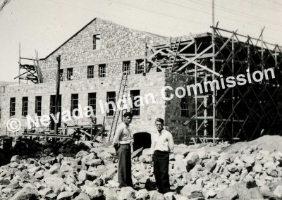 Construction of Old Gym, Bob Wright Collection